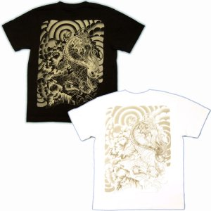 画像5: 唐獅子牡丹和柄Tシャツ通販