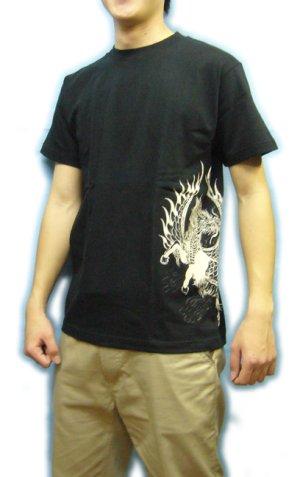 画像2: 紅雀 和柄 【麒麟 雲龍】聖獣 Tシャツ 刺青 和彫り デザイン 和柄服