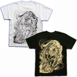 画像5: 唐獅子胸割聖獣 和柄 Tシャツ 和柄 紅雀 通販 名入れ刺繍可 刺青 和彫り デザイン 和柄服