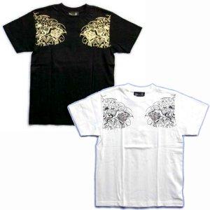 画像4: 唐獅子胸割聖獣 和柄 Tシャツ 和柄 紅雀 通販 名入れ刺繍可 刺青 和彫り デザイン 和柄服