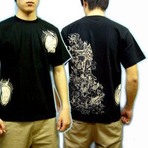 画像2: 地獄絵図の和柄Tシャツ通販