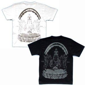 画像3: 千手観音の菩薩Tシャツ通販