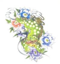 紅雀 和柄 唐獅子 フルカラー プリント Tシャツ 刺青 和彫り デザイン