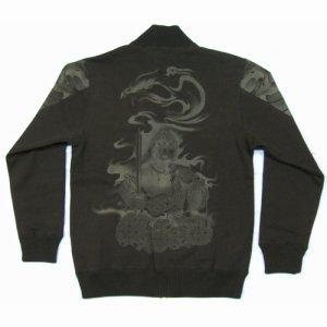 画像1: 不動明王 和柄 スエット ジャンパー 刺青デザインの紅雀(名入れ刺繍可)通販 和柄服