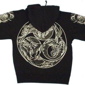画像2: 巴炎龍 和柄 パーカー スエット刺青デザインの紅雀(名入れ刺繍可)通販 派手 パーカー 和柄服