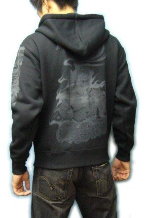画像5: 不動明王 和柄 パーカー スエット刺青デザインの紅雀(名入れ刺繍可)通販 派手 パーカー 和柄服